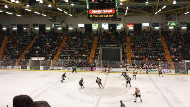 Seating view for Glens Falls Civic Center Section A Row 12 Seat 3