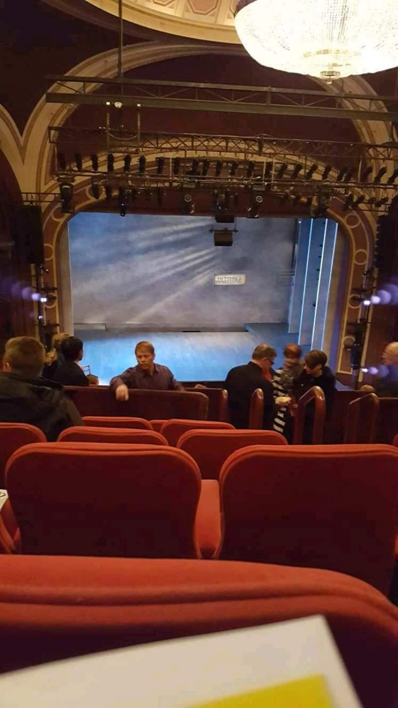 Seating view for Broadway Theatre - 53rd Street Section Ctr/left Mezzanine Row F Seat 104