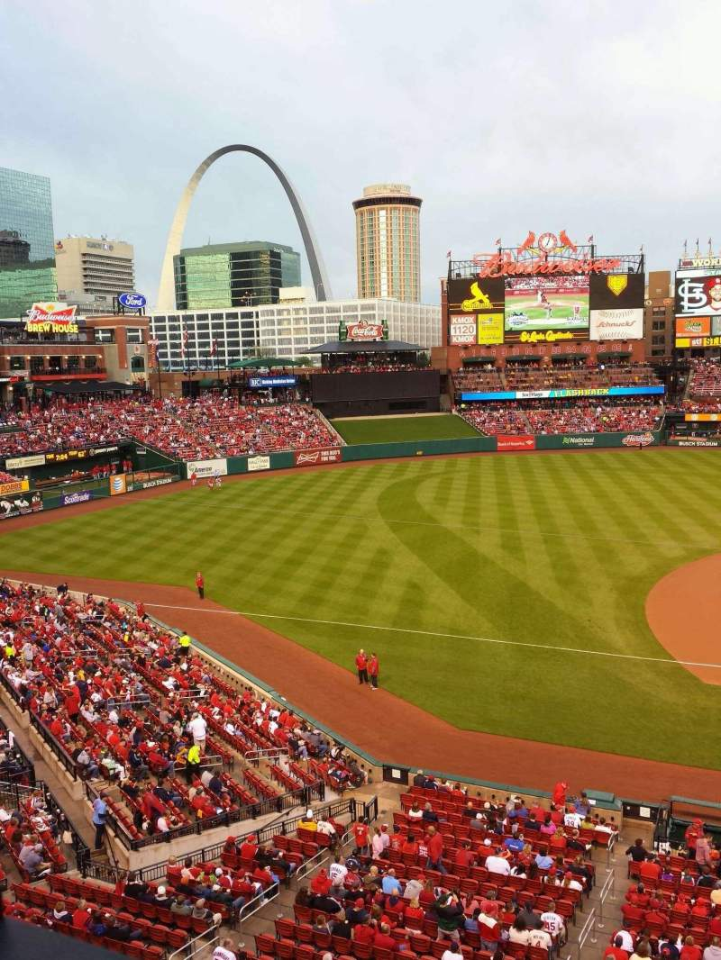 Seating view for Busch Stadium Section 257 Row 1 Seat 20