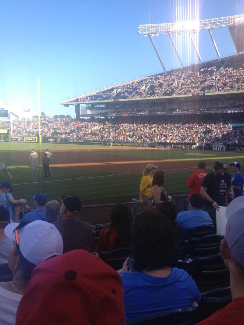 Kauffman Stadium, section: 115, row: H, seat: 5