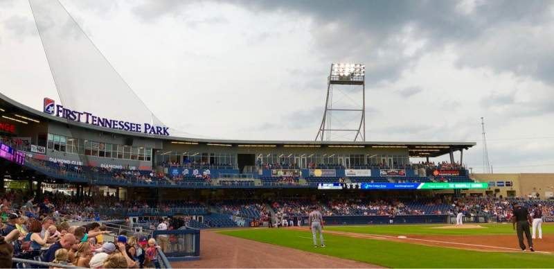 Seating view for First Tennessee Park Section 120 Row C Seat 5