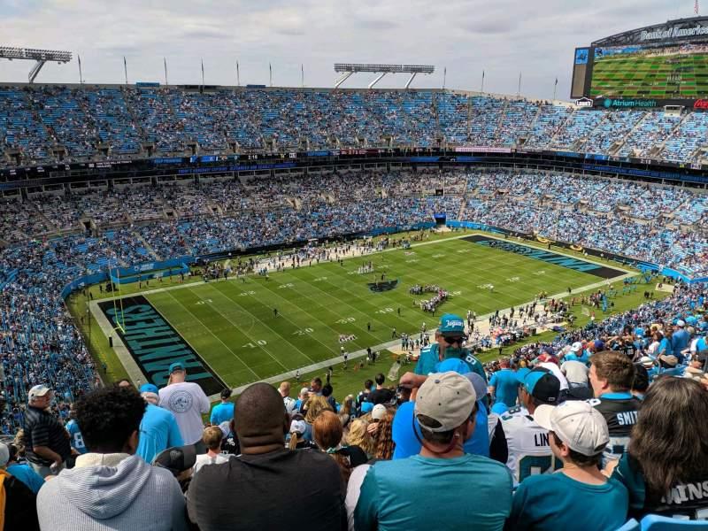 Bank of America Stadium, section 520, row 25, seat 17 ...