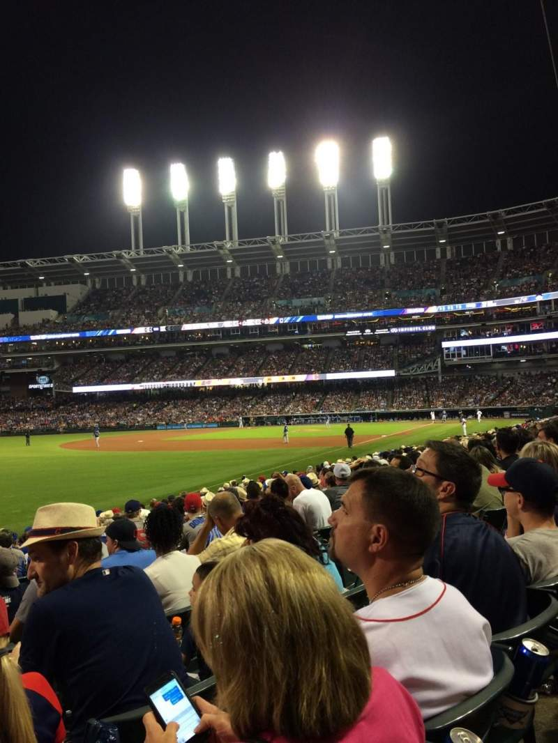 Seating view for Progressive Field Section 175 Row Q Seat 8