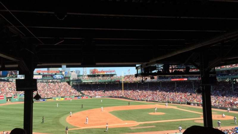 Seating view for Fenway Park Section Grandstand 27 Row 18 Seat 20