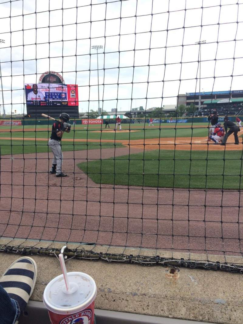 Seating view for Coca-Cola Field Section 101 Row 1 Seat 4