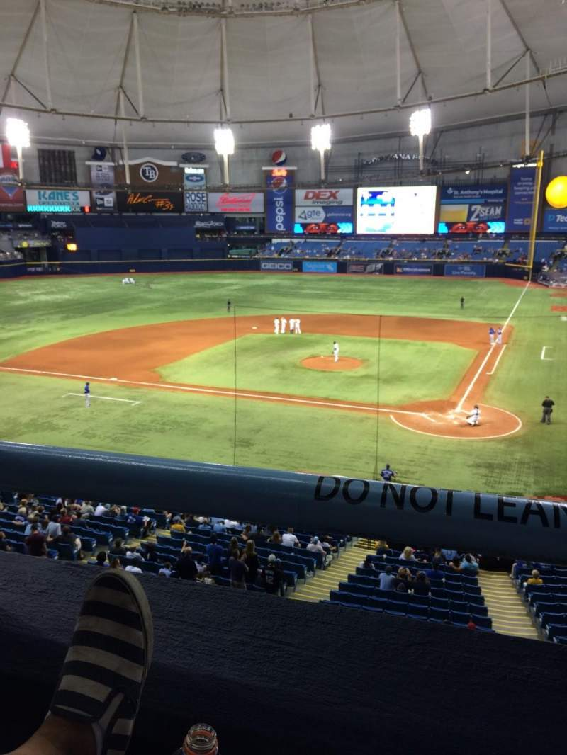 Seating view for Tropicana Field Section 205 Row A Seat 2