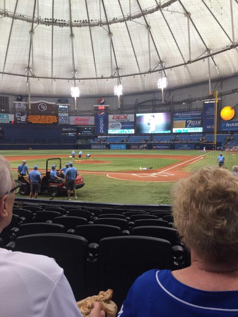 Seating view for Tropicana Field Section 105 Row M Seat 1