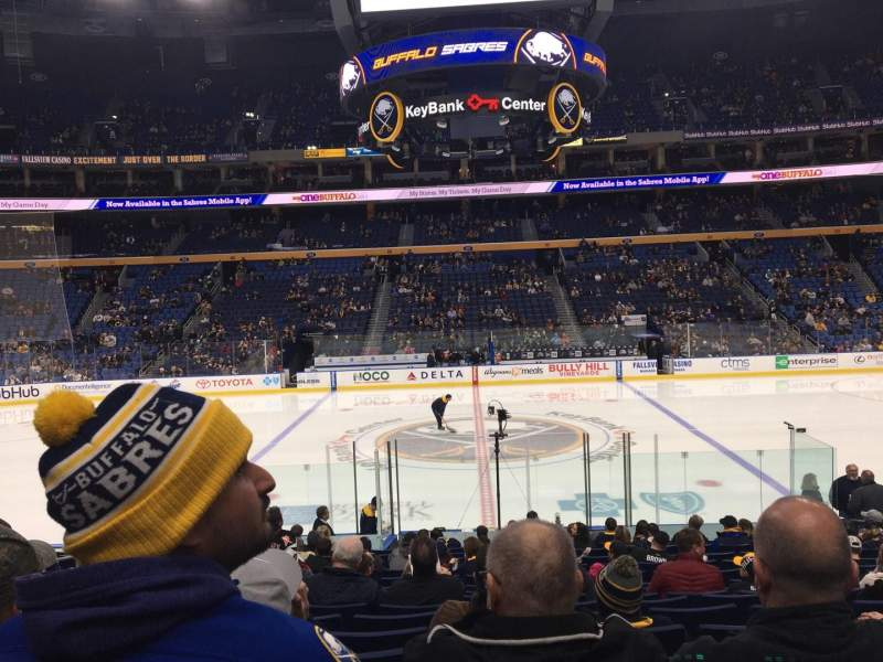 Seating view for KeyBank Center Section 117 Row 17 Seat 12