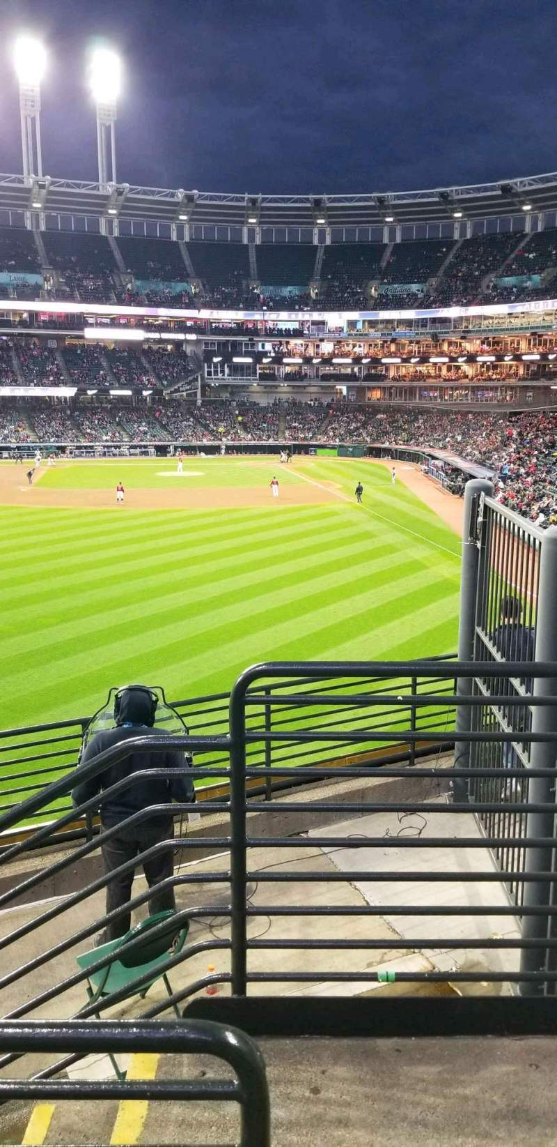 Seating view for Progressive Field Section 180 Row f Seat 17