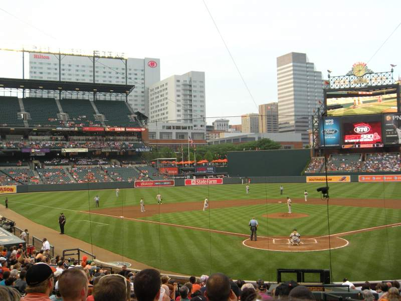 Seating view for Oriole Park at Camden Yards Section 38 Row 25 Seat 1