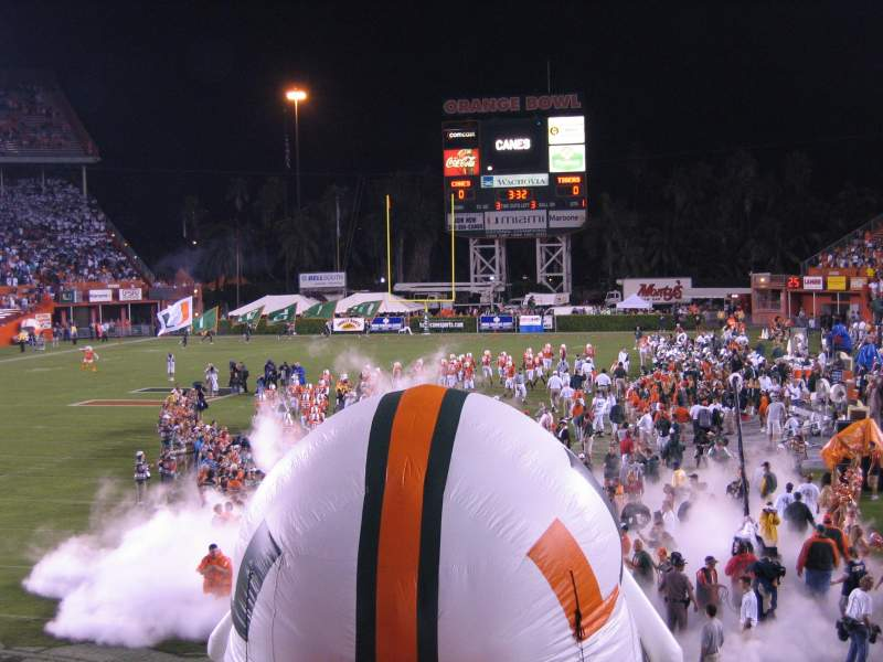 Seating view for Miami Orange Bowl Section West End Zone Row GEN ADM
