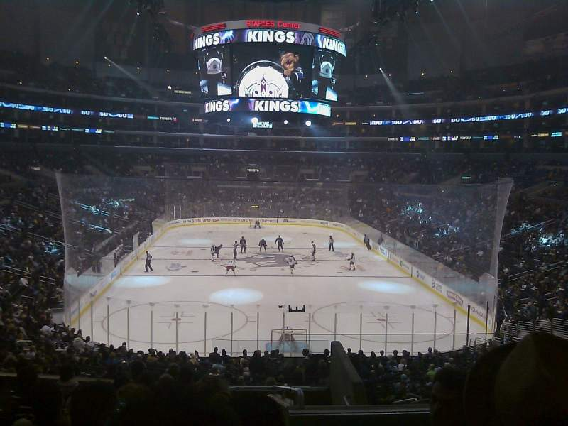 Seating view for Staples Center Section 217 Row 10 Seat 6