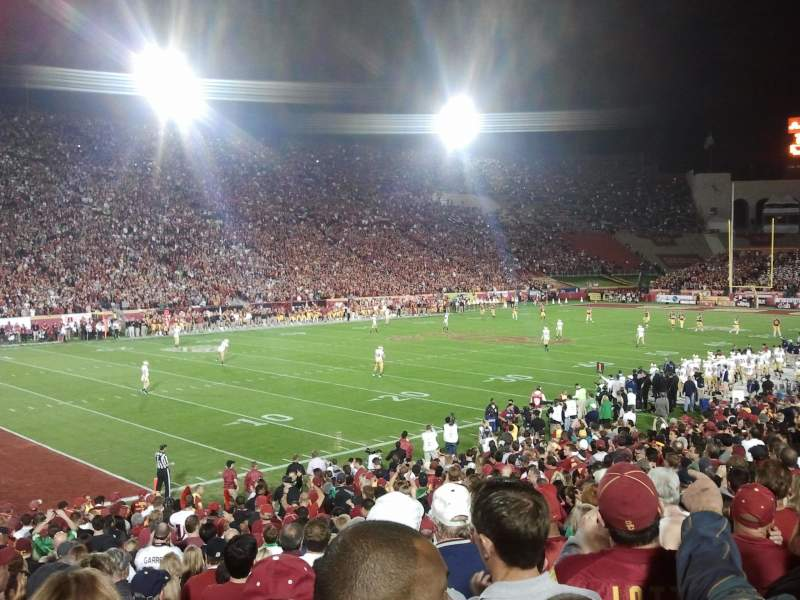 Seating view for Los Angeles Memorial Coliseum Section 10 Row 24 Seat 9