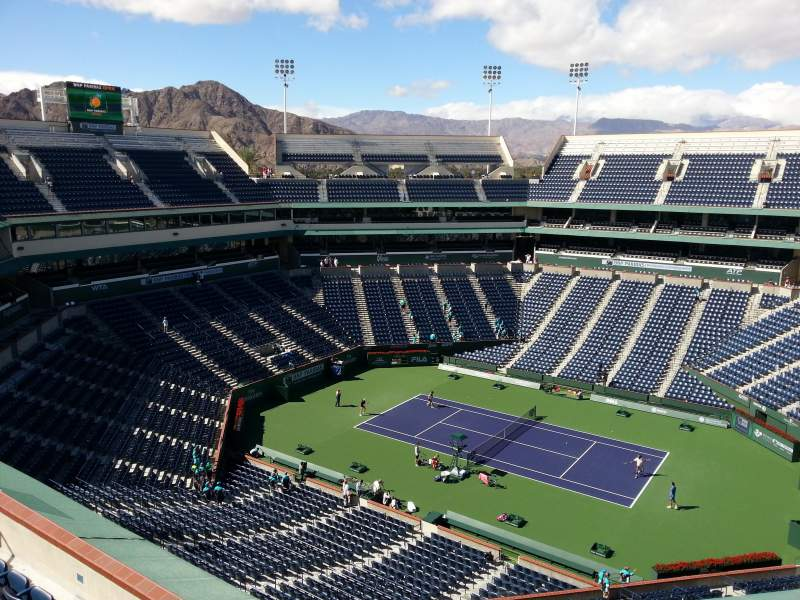 Seating view for Indian Wells Tennis Garden Section Top Level Row Concourse