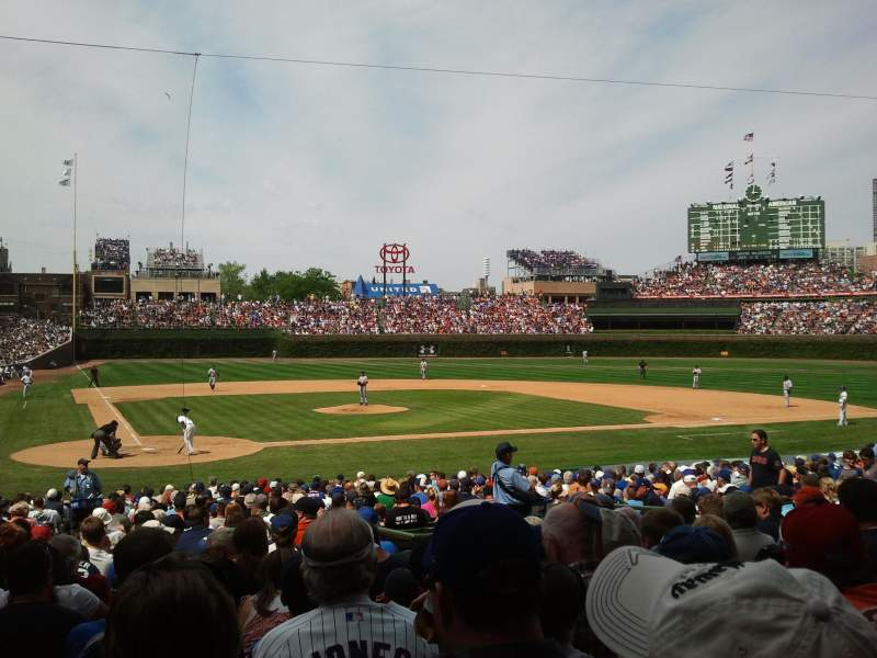 Seating view for Wrigley Field Section 121 Row 12 Seat 6