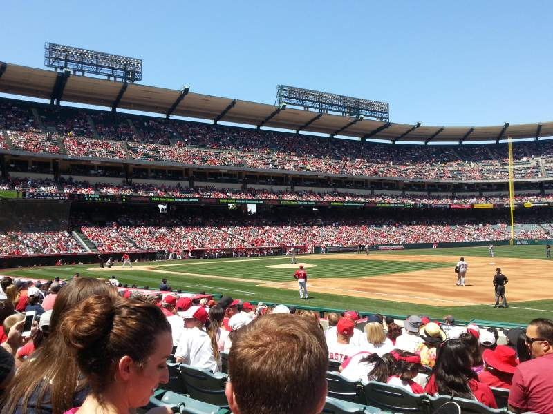 Seating view for Angel Stadium Section F127 Row N Seat 9