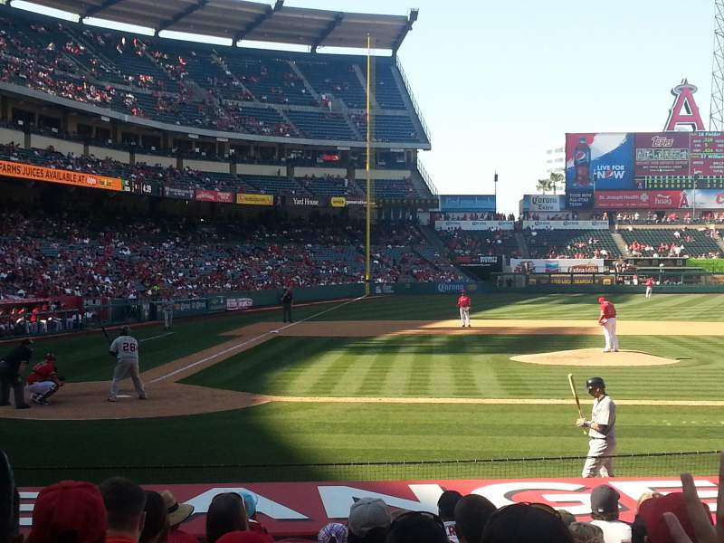 Seating view for Angel Stadium Section F123 Row H Seat 2