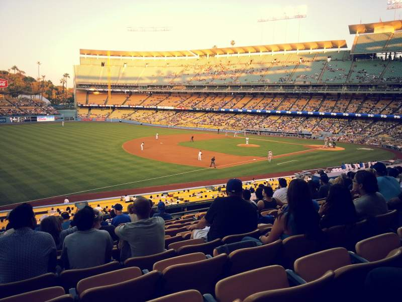 Seating view for Dodger Stadium Section 151LG Row L Seat 7