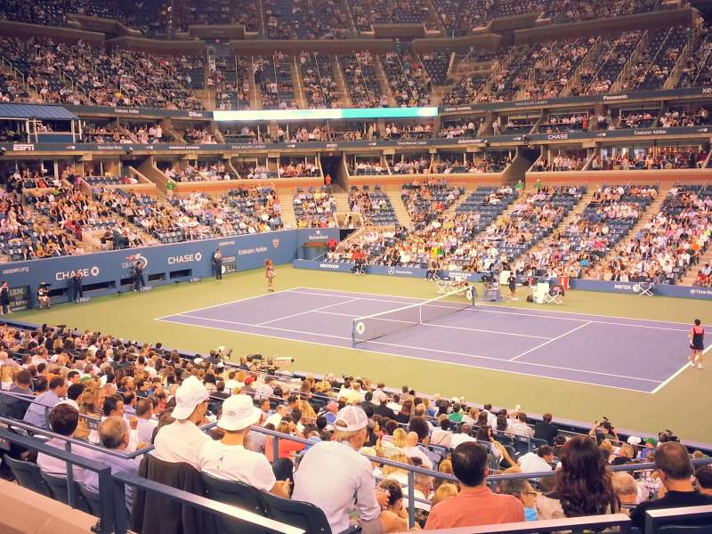 Seating view for Arthur Ashe Stadium Section 115 Row 1 Seat 4