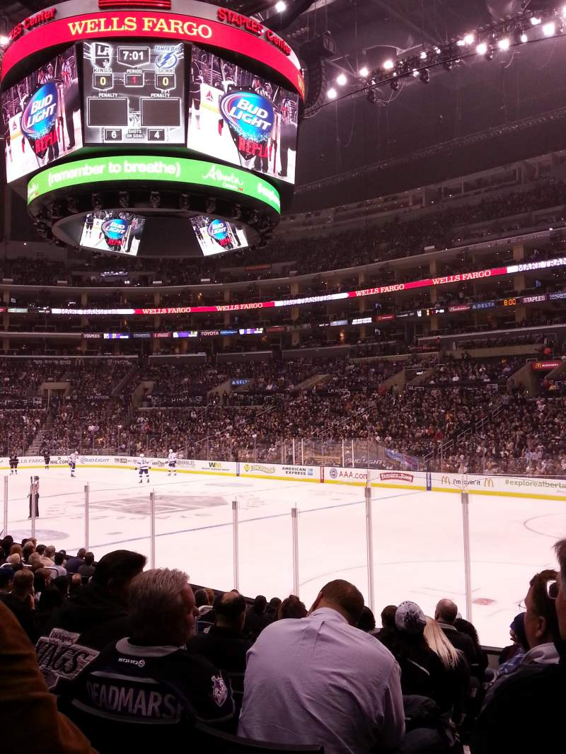 Seating view for Staples Center Section 117 Row 14 Seat 12