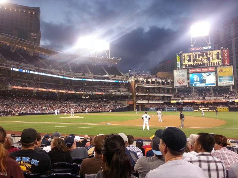 Seating view for PETCO Park Section FL113 Row 12 Seat 7