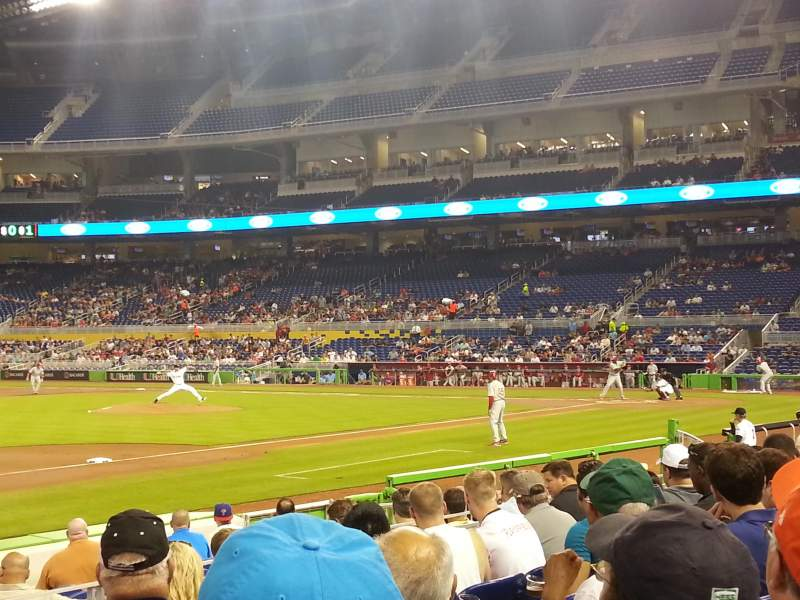 Seating view for Marlins Park Section 22 Row F Seat 17