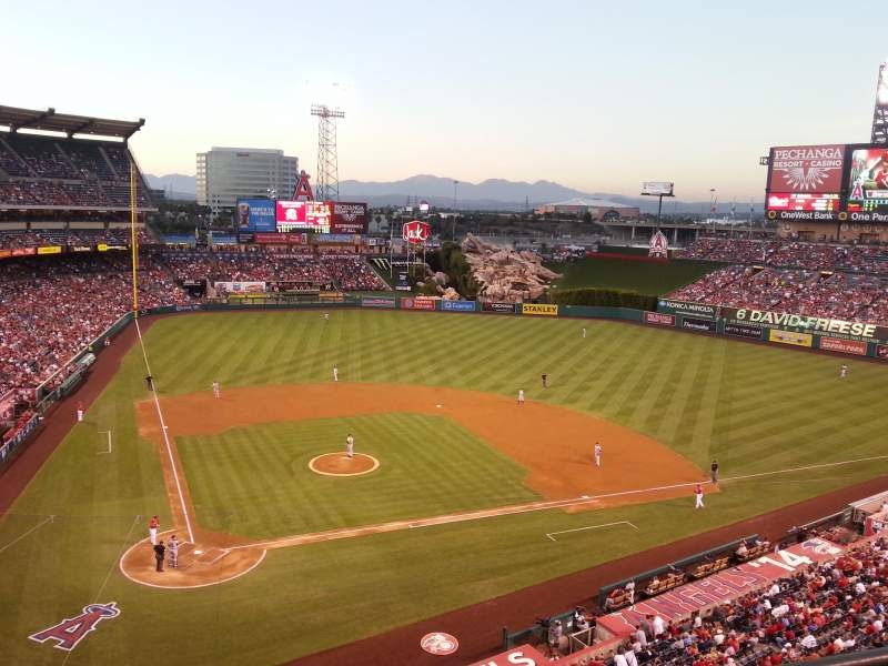 Seating view for Angel Stadium Section 422 Row B Seat 11