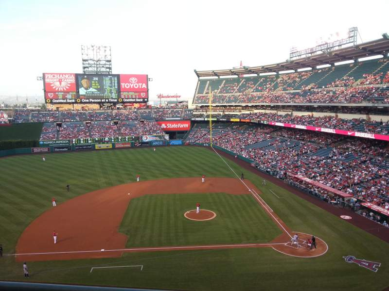 Seating view for Angel Stadium Section 413 Row B Seat 5