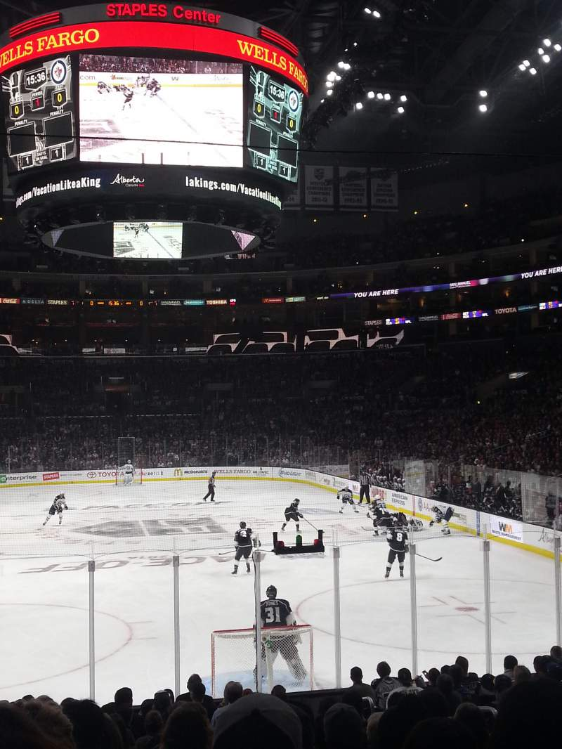 Seating view for Staples Center Section 107 Row 17 Seat 6
