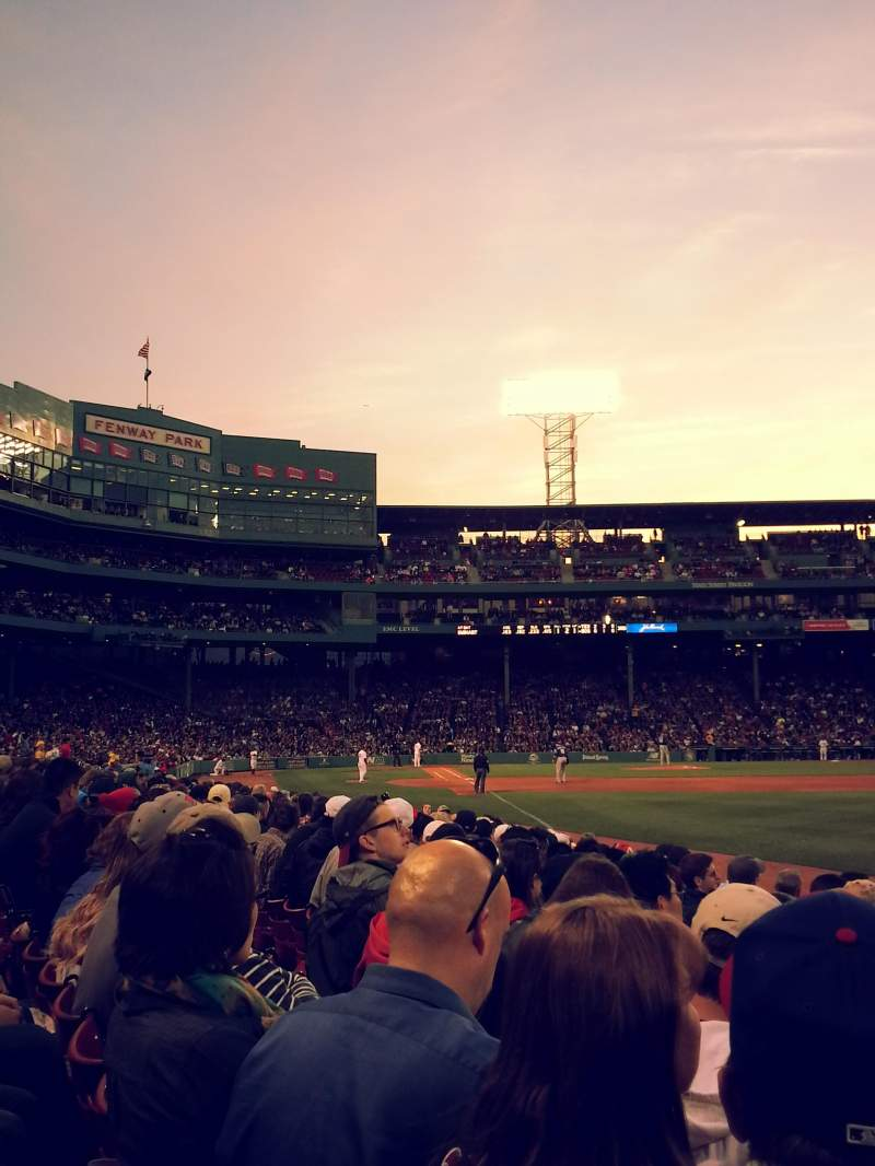 Seating view for Fenway Park Section Right Field Box 6 Row J Seat 5