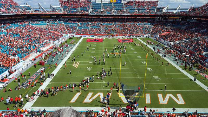 Seating view for Hard Rock Stadium Section 305 Row 2 Seat 4