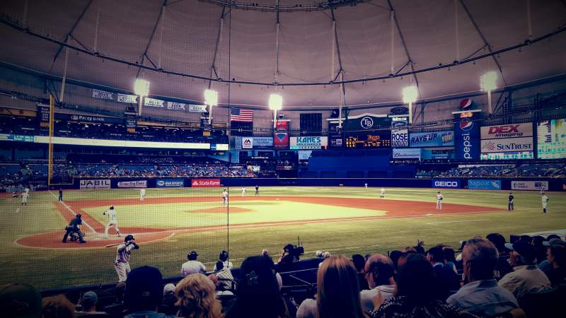 Seating view for Tropicana Field Section 108 Row R Seat 4