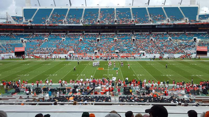 Seating view for Hard Rock Stadium Section 246 Row 15 Seat 12