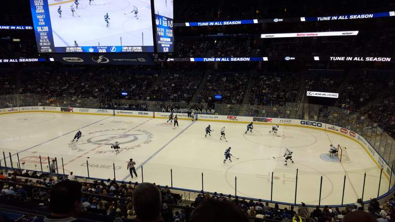 Seating view for Amalie Arena Section TBTLFA Row GA Seat 1