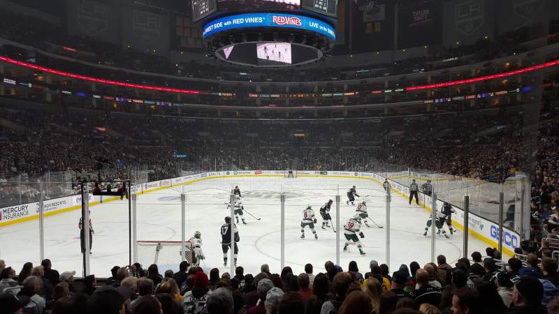 Seating view for Staples Center Section 115 Row 13 Seat 17