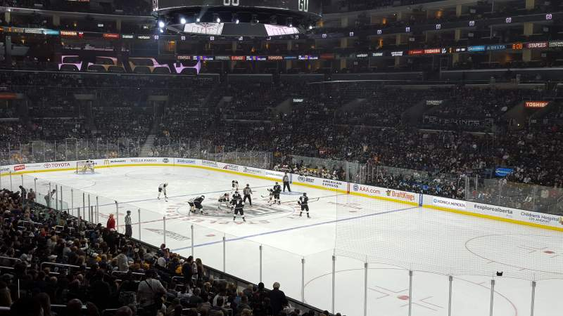 Seating view for Staples Center Section Premier 10 Row 6 Seat 7