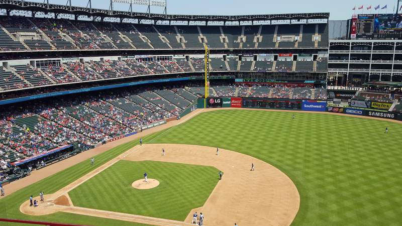 Seating view for Globe Life Park in Arlington Section 335 Row 1 Seat 16