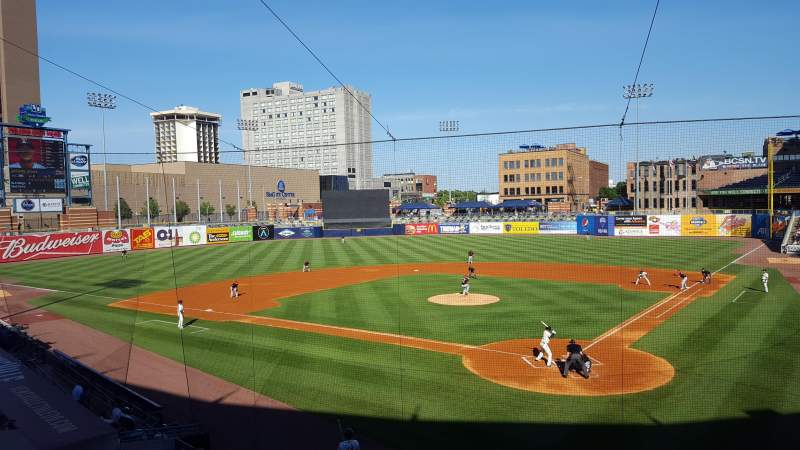Seating view for Fifth Third Field Section 208 Row A Seat 12