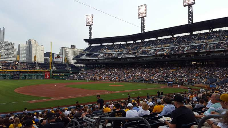 Seating view for PNC Park Section 127 Row H Seat 3