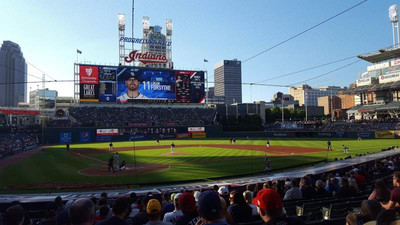 Seating view for Progressive Field Section 151 Row U Seat 8