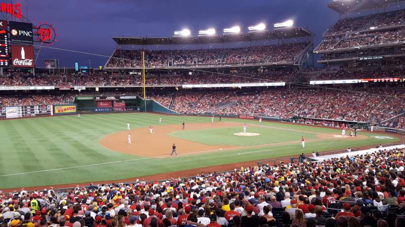 Seating view for Nationals Park Section 113 Row UU Seat 1
