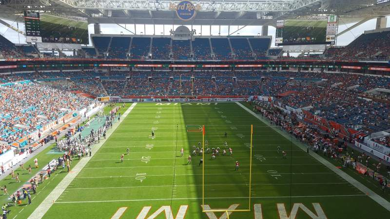Seating view for Hard Rock Stadium Section 305 Row 2 Seat 2