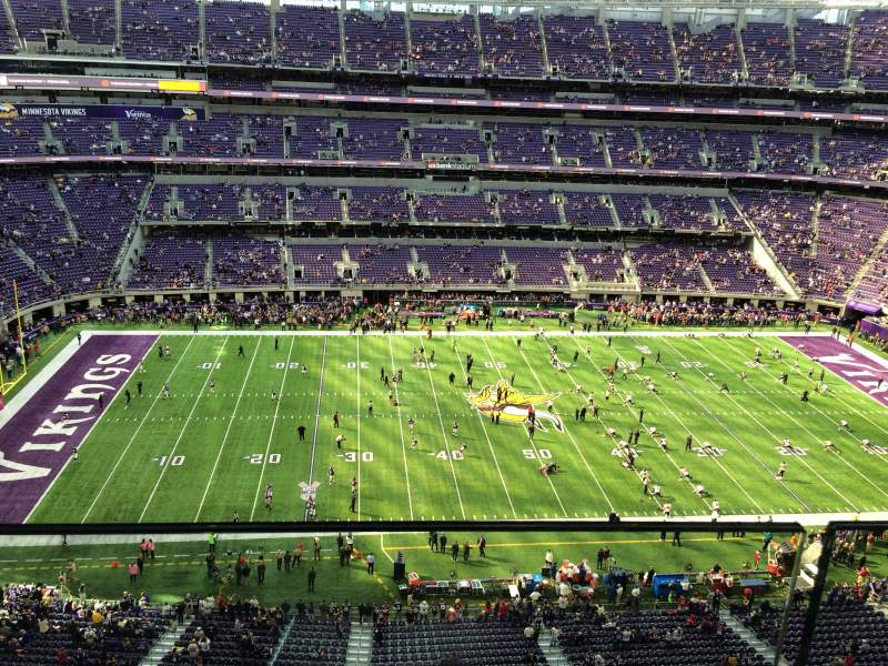 Seating view for U.S. Bank Stadium Section 313 Row 1 Seat 17