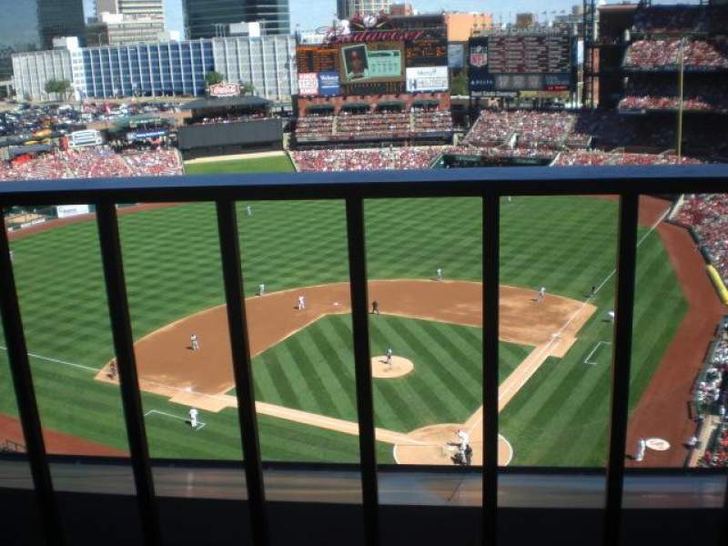 Seating view for Busch Stadium Section 452 Row 4 Seat 1