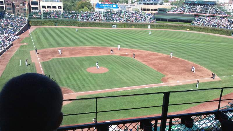 Seating view for Wrigley Field Section 425 Row 3 Seat 105