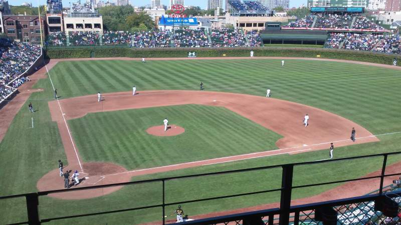 Seating view for Wrigley Field Section 425 Row 3 Seat 106