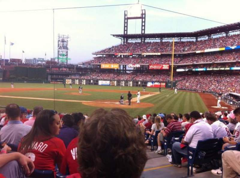 Seating view for Citizens Bank Park Section C Row 15
