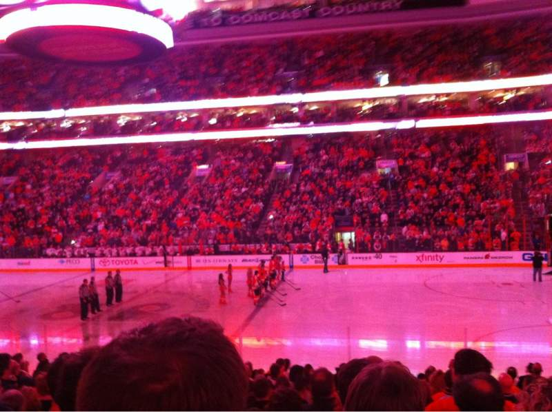 Seating view for Wells Fargo Center Section 114 Row 15 Seat 17