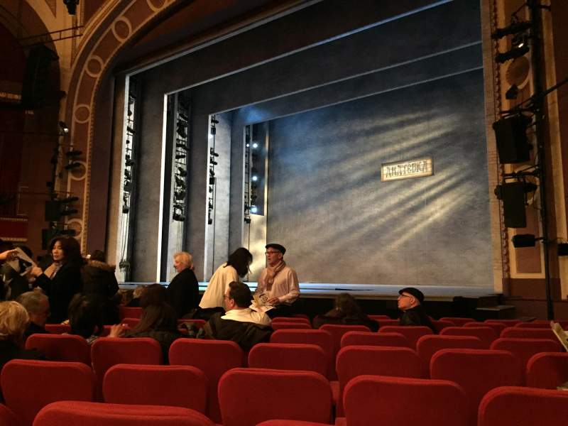 Seating view for Broadway Theatre - 53rd Street Section Orchestra R Row L Seat 19