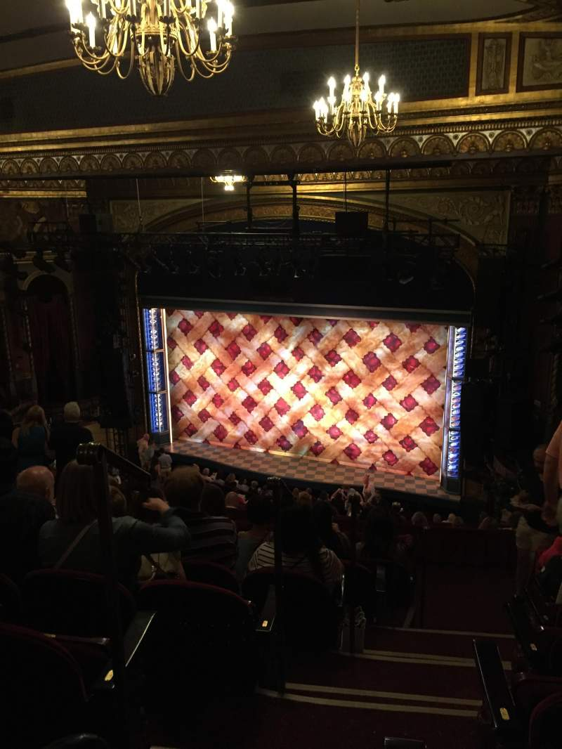 Seating view for Brooks Atkinson Theatre Section Rear Mezzanine R Row L Seat 2
